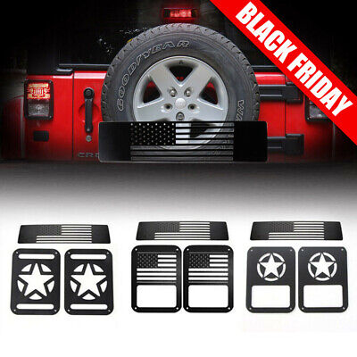 3PCS Tail lamp Tail light Cover & Brake Light Cover for Jeep Wrangler 07-17 Part