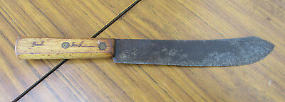 Butchers Old Vintage Knife.  21Cm Long Blade.  Wooden Handle. Collectible. Opt.2