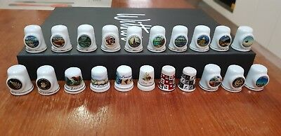 21 x New Zealand thimble collectables