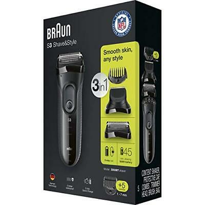 Braun Series 3 Shave & Style 3000BT 3-in-1 Electric Shaver / Razor for Men