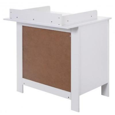 White Baby Diaper Changing Station Table Dresser W 3 Storage Drawers Furniture