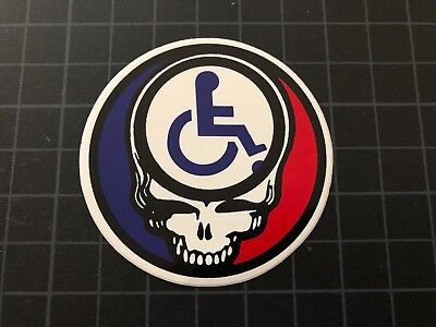 Grateful Dead Jerry Garcia CRIPPLED BUT FREE SYF Steal Your Face sticker 1994