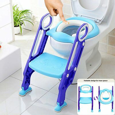 kid/child Toilet Step-up Toddler Potty Training  Ladder Soft Seat Nonslip safety