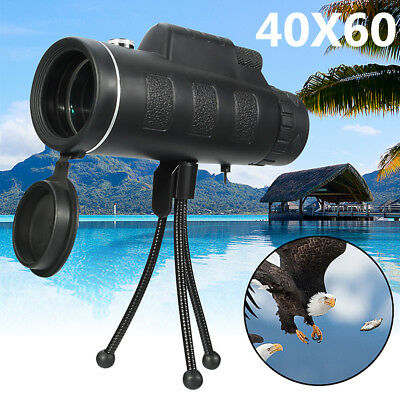 40X60 HD Dual Focus Optical Monocular Telescope Hunting Camping Hiking & Tripod