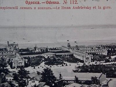 ODESSA UKRAINE Russia postcard - 1909 Liman Andrievsky and Railway Station
