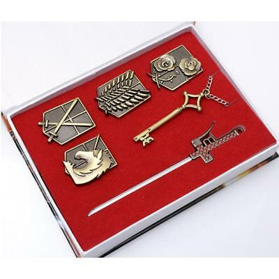 Attack On Titan Scouting Legion Badge Brooch Sword Cosplay Costume Accessory