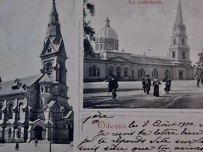 ODESSA UKRAINE Russia postcard - Multi-view St.Paul church