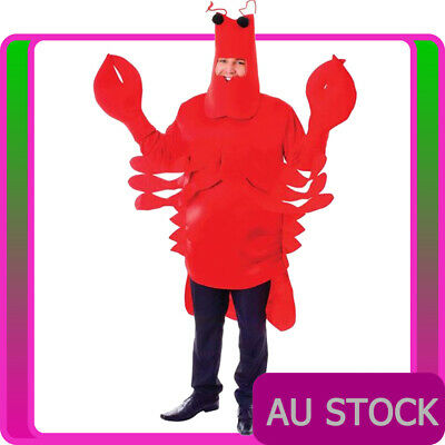 Unisex Red Lobster Costume Funny Mens Monster Sea Animal Stag Night Fancy Dress