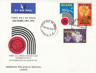 G 2425 Lagos Nigeria First Day Cover Feb 1972 Africa Trade Fair, contents