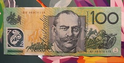 Australian 100 $100 Dollar Note Test Note Bt96 1996 💵 🌟scarce Collectable🌟