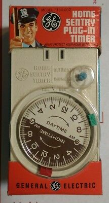 New Vintage GE Home Sentry Variable Plug-In Timer 8134-002 NOS