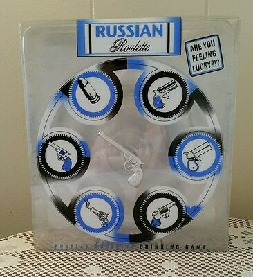 Vintage Game Party Shot Glasses Russian Roulette Game
