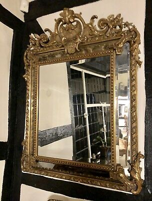 Magnificent Large Victorian Gilt Wall Mirror measures 109cms tall x 90 cms wide