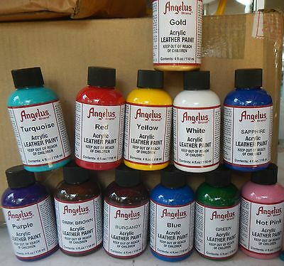 Angelus Leather Acrylic Paint 118ml Assorted Colours