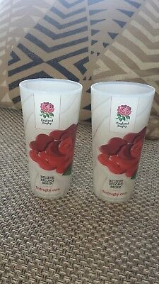 Genuine hospitality only England rugby beer cups from Twickenham Stadium