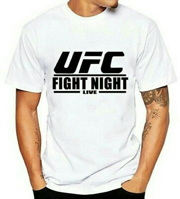WOW! UFC Fight Night MMA T-Shirt Kick Boxing Fitness Weiss Cage Fighting Gr. XL