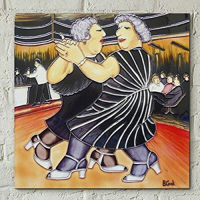 Dancing by Beryl Cook 8x8 Decorative Tile Plaque Wall Art Home Decoration
