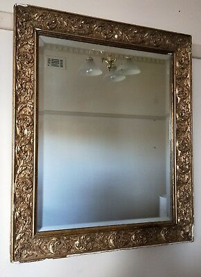 Large Antique Early Victorian Gilt Gesso Mirror Frame c.1840