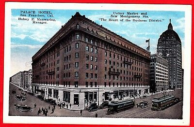 A1201) San Francisco Palace Hotel Corner Market and New Montgomery Sts.