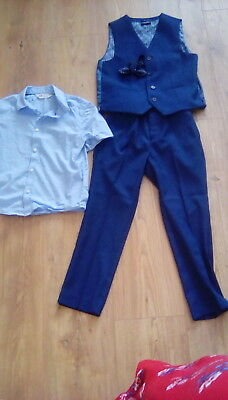 Boys three piece navy suit next age 8