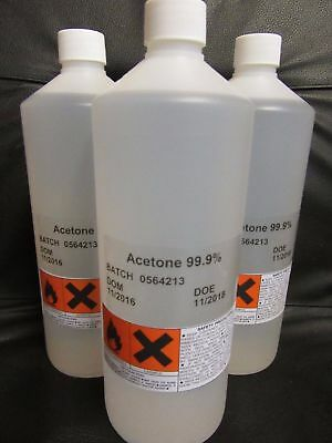 Acetone 99.9% Pure High Quality Lab Grade Nail Varnish Remover 1 litres