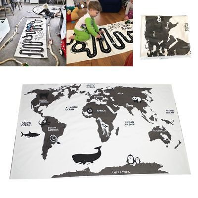 World Map Baby Kids Floor Carpet Forest Track Crawling Blankets Play Game Mats