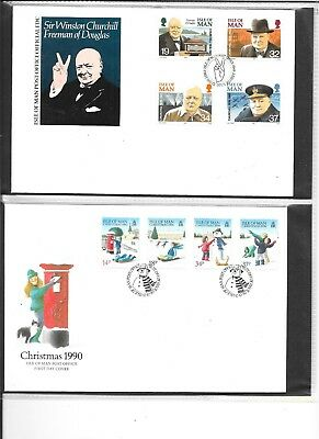 Isle of Man First Day Cover Collection  2  1989-1996  total of 62