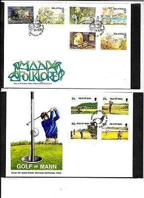 Isle of Man First Day Cover Collection 1997-2003 total of 63