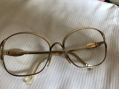 Vintage Christian Dior Brillengestell Brille Gold & Rot * 2302 43 56 # 17 125