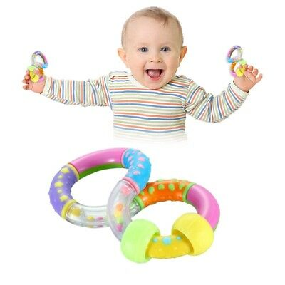 Baby Rattle Play Toy First Steps Twist Turn Rattle Textured Easy Grip 6 Months+