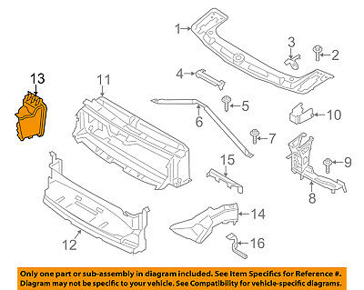 BMW OEM 11-13 550i xDrive Radiator Core Support-Cooling Duct Left 51747200789