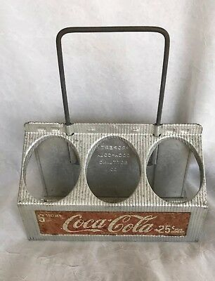 Vintage 1950s 6 Bottle Coca-Cola Coke Metal Drink Pack Carrier