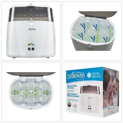 Deluxe Sterilizer Steam Baby Bottle Feed Warm Electric Auto Kid Clean Easy USA