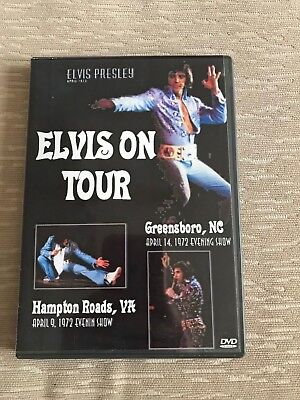 Elvis DVD on tour Hampton Roads 09/04/72 e/s and Greensboro , NC 14/04/72 e/s
