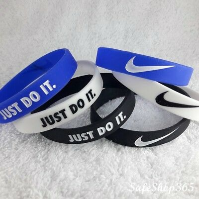 2x B-grade silicone bracelets Nike-JUST DO IT Mens Wristband Sport Baller Bands