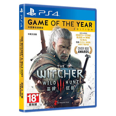The Witcher 3 Wild Hunt Game of the Year Edition PS4 Chinese English Pre-Owned