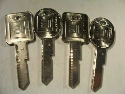 2 Sets  Oem  E & H  Gm    1971 - 1986 Key Blank  With Knockout In Plase  Uncut