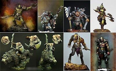 New 2018 Orc Warrior Human 75mm Resin Figure Model KIT Warcraft Kit ORC 7 Types