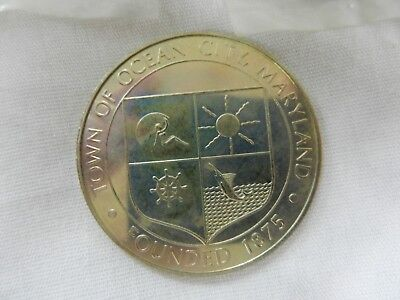 Ocean City Maryland Silver Colored Large Token Coin 100 Years