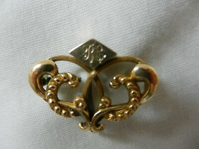 Vintage Gold Filled RFS & Co. Brooch Victorian-Style Engraved BE