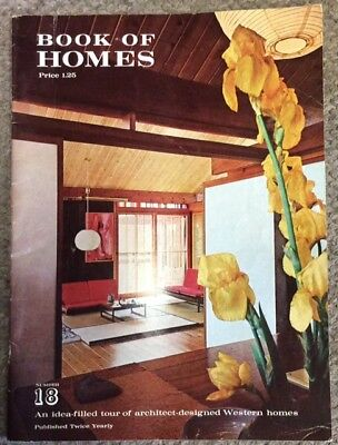 Vintage 1961 Book Of Homes, California / Western, Mid-Century, 14 Houses