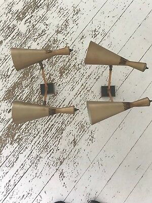 Rare Vintage Pair Of Anodised Copper Wall Lights By G.A Scott For Maclamp C1950s