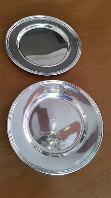 "International Sterling Silver Bread & Butter Plates 6"" Saybrook Pattern H413-9"