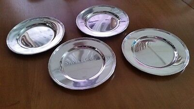 "International Sterling Silver Bread & Butter Plates Lord Saybrook 6"" H413-9"