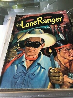 Dell LONE RANGER  Comic issue # 37 -JUL. 1951 FAIR to GOOD Condition