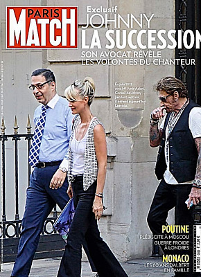 Paris Match*22/3/2018*exclusif=Johnny Succession=Son Avocat Parle*monaco*poutine
