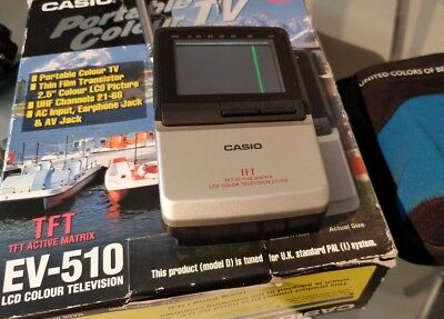 mini portable tv - Casio EV-510 - Analogue - AV JACK - raspberry pi project?