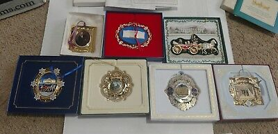 THE WHITE HOUSE Christmas Ornament lot 1999 2000 2001 2004 2005 2006 2007