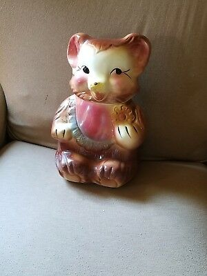 Vintage 1950's Cookie Bear Cookie Jar