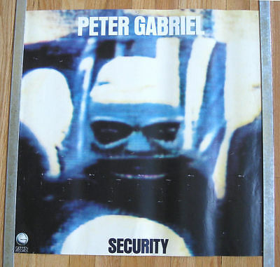 """PETER GABRIEL Security POSTER 23"""" x 23"""" GENESIS Shock Th Monkey I HAVE TOUCH"""